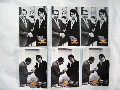 ELVIS & RICHARD NIXON CARDS (6) 3 each #302 & #312 The River Group 1992
