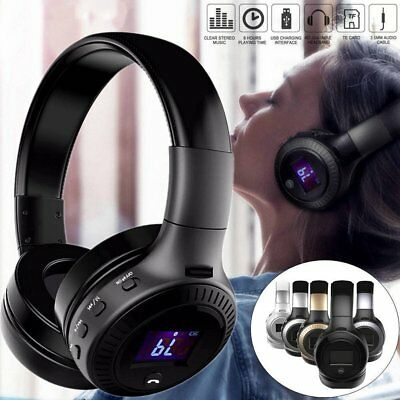 Wireless Bluetooth Headphones Foldable LCD Stereo Earphones Super Bass Headset