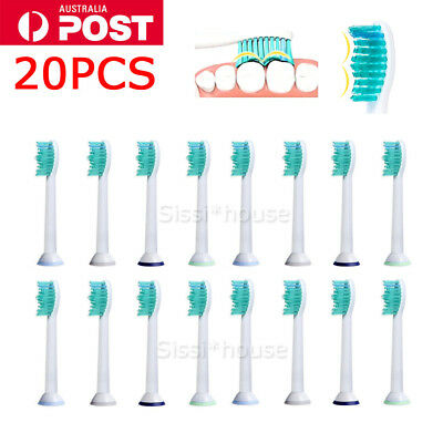 20PCS Electric Toothbrush Heads Replacement For Philips Sonicare HX6014 Soft AU