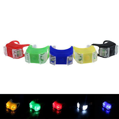 LED Bicycle Cycling Bike Front Rear Tail Helmet Light Safety Warning Lamp GOOD