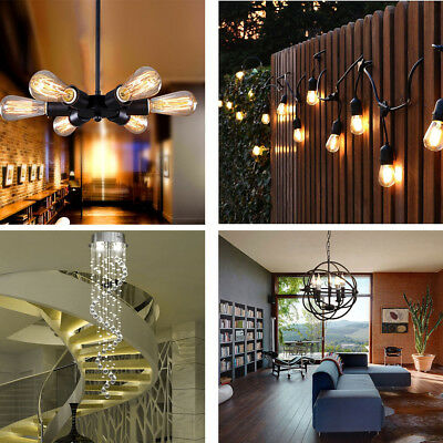 Modern Crystal Chandelier Vintage Industrial Lamp Edison Pendant Ceiling Light