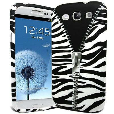 Zebra Zip Print Silicone Gel Case Cover Skin For Samsung I9300 Galaxy S3 SIII