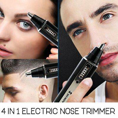 360 degree Electric Nose Ear Eyebrow Hair Trimmer Shaver No Pulling No Cut E9