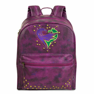 New Disney store Descendants 2 Faux Leather Backpack Bag Mal Evie Uma NWT