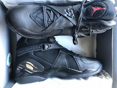 0703d3b03a65 Brand New Authentic Air Jordan 8 VIII OVO Black Gold AA1239-045 Drake Size  13