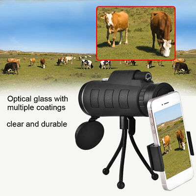 High Power 40X60 HD Monocular Telescope Shimmer Night Vision Outdoor Hiking SP