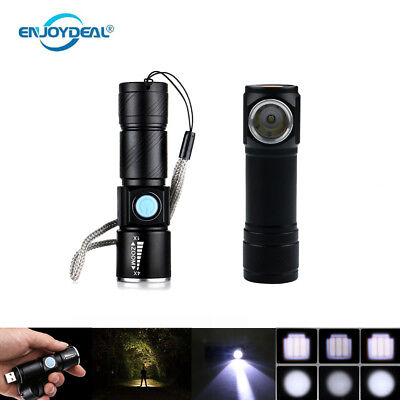USBRechargeable Flashlight Mini Super Bright Torch Searchlight for Hiking 66