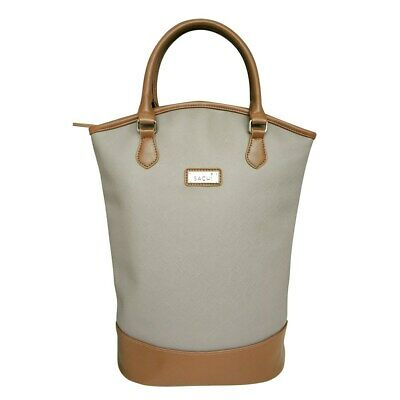 New Sachi Insulated Two Bottle Wine Tote Taupe
