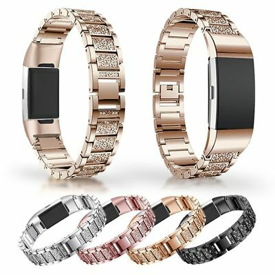 Luxury Watch Band Strap Stainless Steel Bracelet Replacement For Fitbit Charge 3