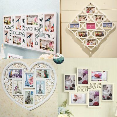 Family Word YOU &ME Photo Frame Love Wall Decoration Christmas Gift Multi Photos