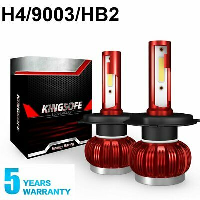 H4 LED Bulb HID White 360°Hi/Low Beam Motorcycle Headlight 6000K High Power