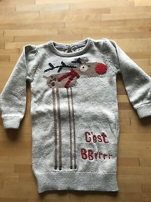 Next Baby Girls Christmas Jumper Dress 12-18 Months Reindeer