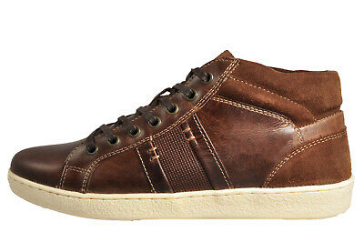 Red Tape Lawton Mid Men's Classic Casual Vintage Retro Boots Trainers Brown