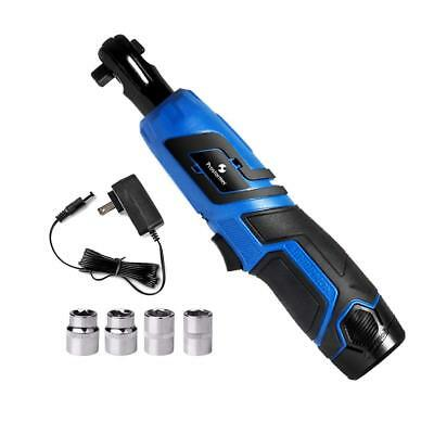 """3/8"""" Cordless Ratchet Wrench, Prostormer 12V Electric Ratchet Wrench Kit with 4"""
