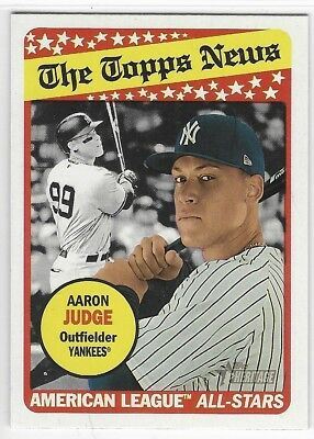 2018 Topps Heritage Aaron Judge The Topps News American League All-Stars Yankees
