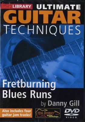 Ultimate Guitar Techniques Fretburning Blues Runs Lick Library Tuition DVD