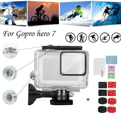 For GoPro Hero7 White/Silver Waterproof Case Diving Protective Housing Shell  U