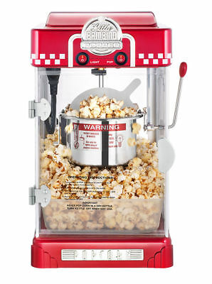 220V 300W Commercial/Household Home Shop Stainless Steel Popcorn Machine 80g