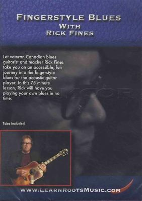 Fingerstyle Blues with Rick Fines Guitar Tuition DVD Learn How To Play