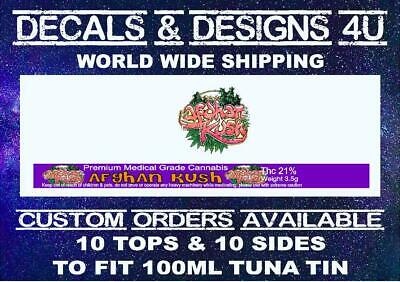 Press it in Cali Can ring pull tuna tin stickers 100ml/3.5g  Tin Labels 10 Sets