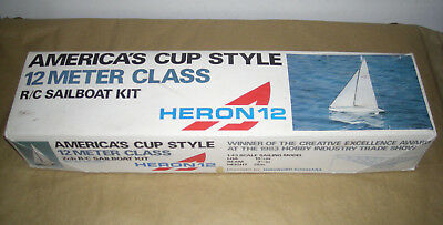 Heron 12 America's Cup Style 2 Channel R/C Sailboat Kit 1/43 Scale