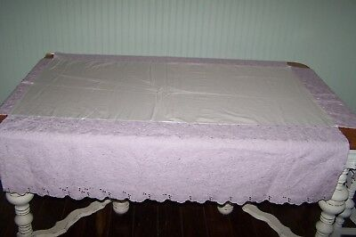 NWT Pottery Barn Kids Lavender Eyelet Lined Baby Crib Bed Skirt Dust Ruffle