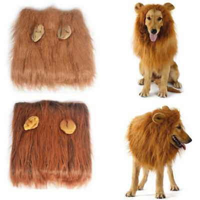 a8de2730182 PET COSTUME LION Mane Wig for Large Dog Halloween Clothe Fancy Dress ...