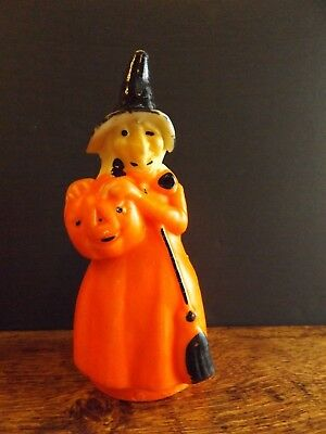 """Vintage GURLEY Halloween Candle 8 1/4"""" Witch 1960's"""
