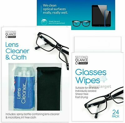 👓 Lens Glasses Cleaner & Microfibre Cloth Wipes Spectacle Camera Cleaning Spray