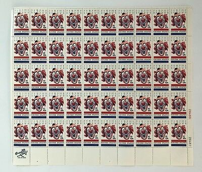 Circus Clown Sheet of 50 x 5 Cent US Postage Stamps Scott 1309