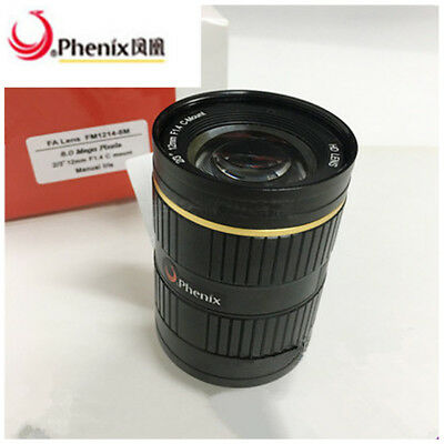"Phenix FM3514-8M 8Megapixel 35mm 2/3"" F1.4 manual iris industrial camera Lens#SS"
