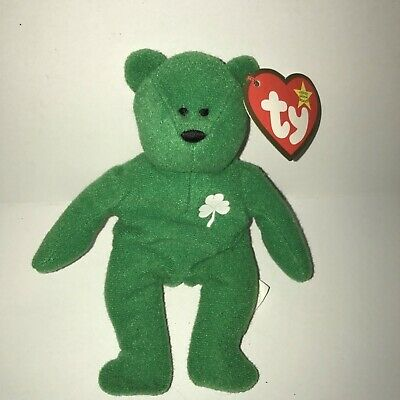 091f6b03429 McDonalds Happy Meal Ty Teenie Beanie Baby - ERIN THE GREEN BEAR