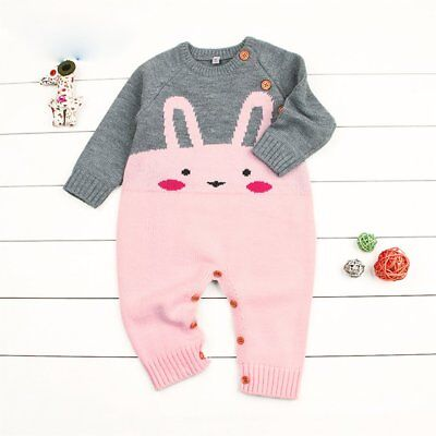 Baby Boys Girls Cartoon Romper Comfortable Long Sleeve Infant Rompers Jumpsuit X