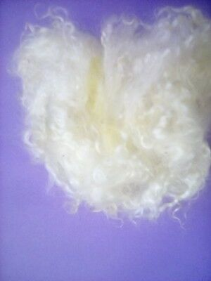 200g very good washed adult mohair fleece,craft,spinning,felting,no skirt