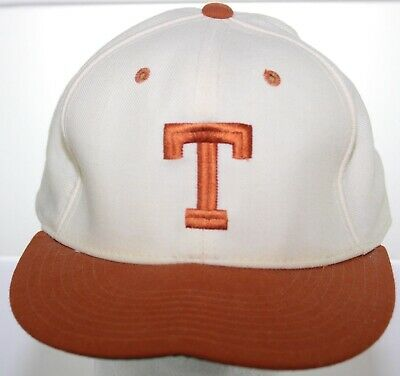10cf312944a83 Vintage 1980s Texas Longhorns Wool Hat - New Era Pro Model Fitted Cap Size  7 5