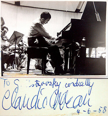 1958 Pianist CLAUDIO ARRAU Hand SIGNED AUTOGRAPH Signature ART PHOTO Autogramme