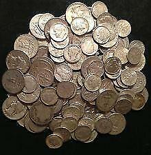 $25.00 US Face Value 90% Silver Coins 1964 and Older Mixed Dimes Quarters Halves