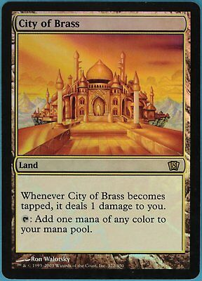 City of Brass FOIL 8th Edition HEAVILY PLD Land Rare CARD (ID# 62948) ABUGames
