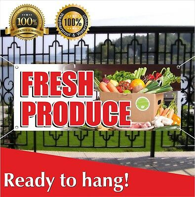FARMERS MARKET NOW OPEN Banner Sign NEW Larger Size Best Quality for the $$$