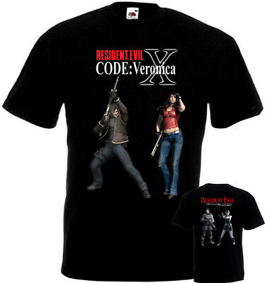 Resident Evil T-shirt double sided black poster all sizes S-5XL
