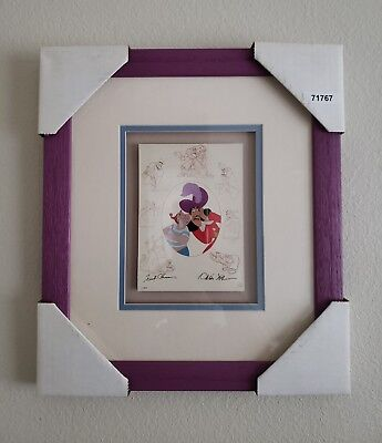 Disney Framed Cel Promo Card Hook and Smee Peter Pan