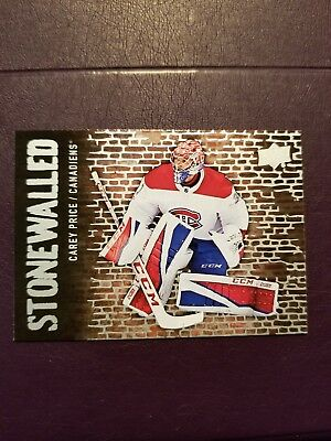 2018-19 UD Series 1 STONEWALLED #SW-27 Carey Price Montreal Canadiens