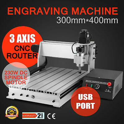 3 Axes 3040T Machine À Graver Usb Routeur Carving Cutting Bois Dur Newest