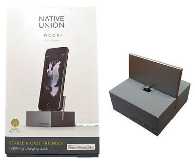 Native Union DOCK+ Charging Dock for Apple iPhone X iPhone 8 iPhone 7 Gray OP