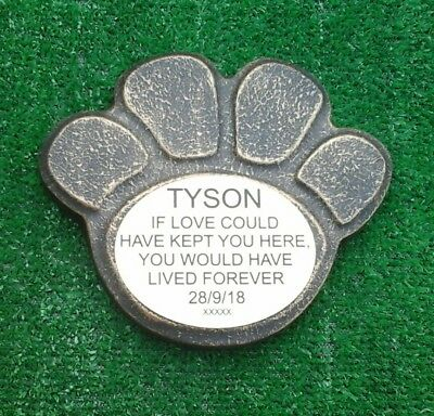 Dog Large Pet Memorial/headstone/stone/grave marker/memorial paw laminate  no 7