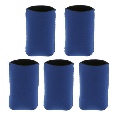 5x Neoprene Cool Beer Drink Tin Can Cooler Insulated Sleeve Holder Gift Blue