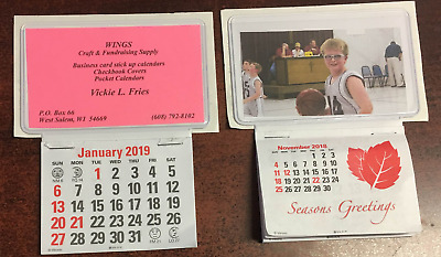 Business Card Stick Up Calendars 2019 Plus Nov Dec 2018 - Set of 3 119stc3