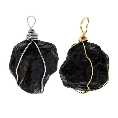 Wire Wraped Natural Tourmaline Pendant Energy Crystal Stone jewelry