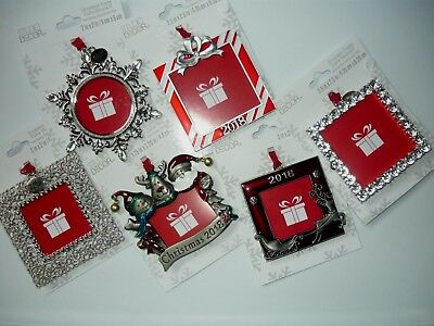 Christmas Ornament Photo Picture Frame, 2018 Christmas Tree Ornaments