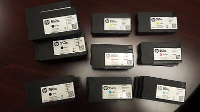 Empty HP 950, 951 and 952 INK cartridges -  Lot Of 26